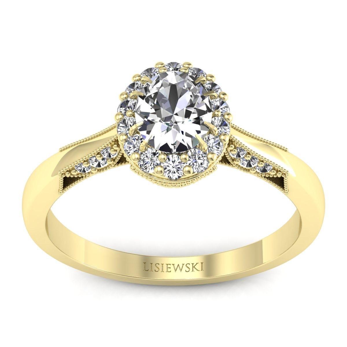 Diana - Pierścionek z diamentami żółte złoto