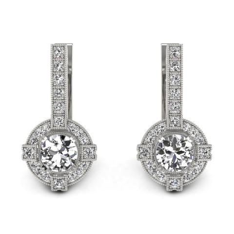 Audrey - Kolczyki z diamentami białe zloto