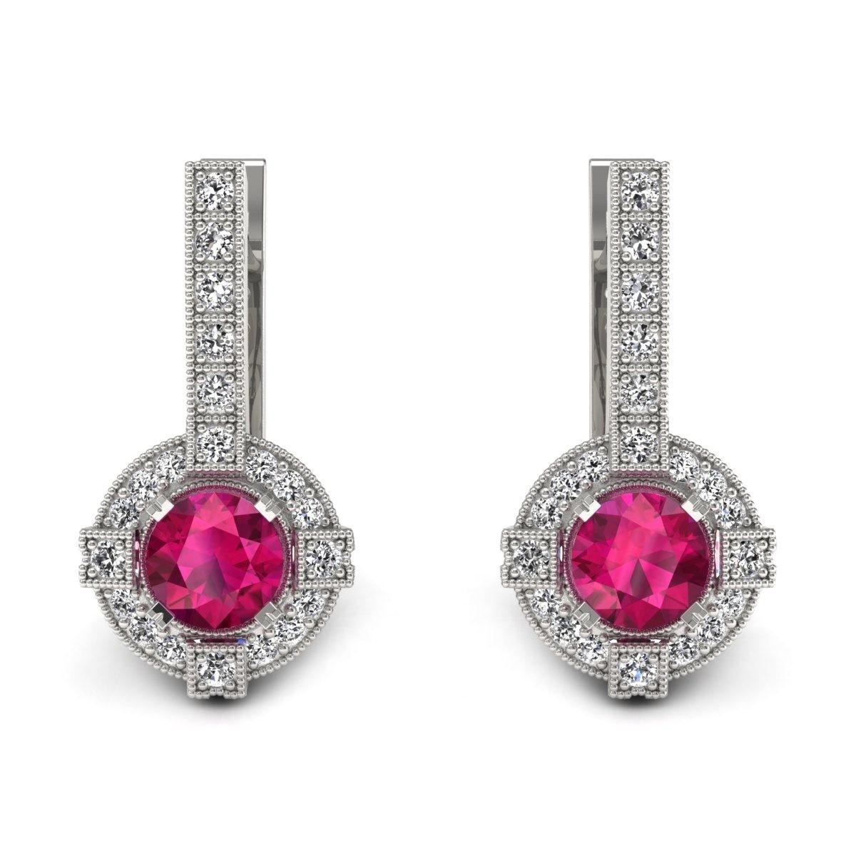 Audrey - Kolczyki z rubinami i diamentami
