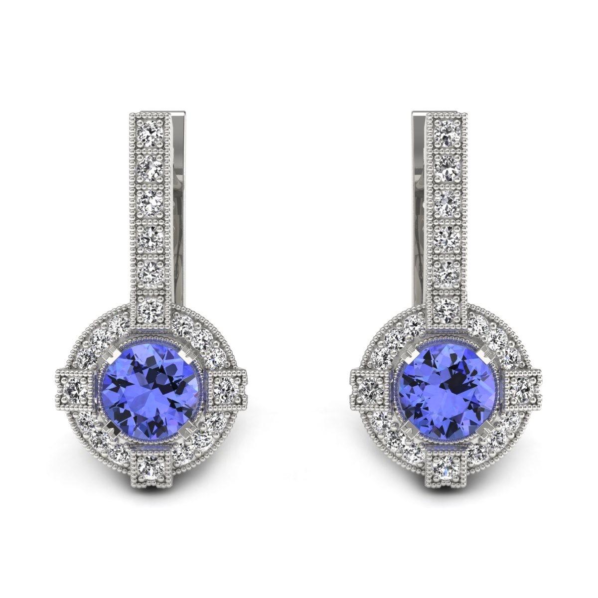 Audrey - Kolczyki z tanzanitami i diamentami