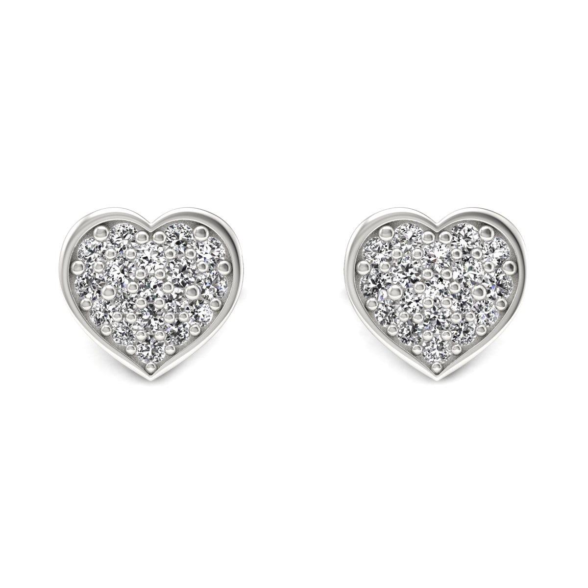 Heart - Kolczyki z diamentami białe zloto