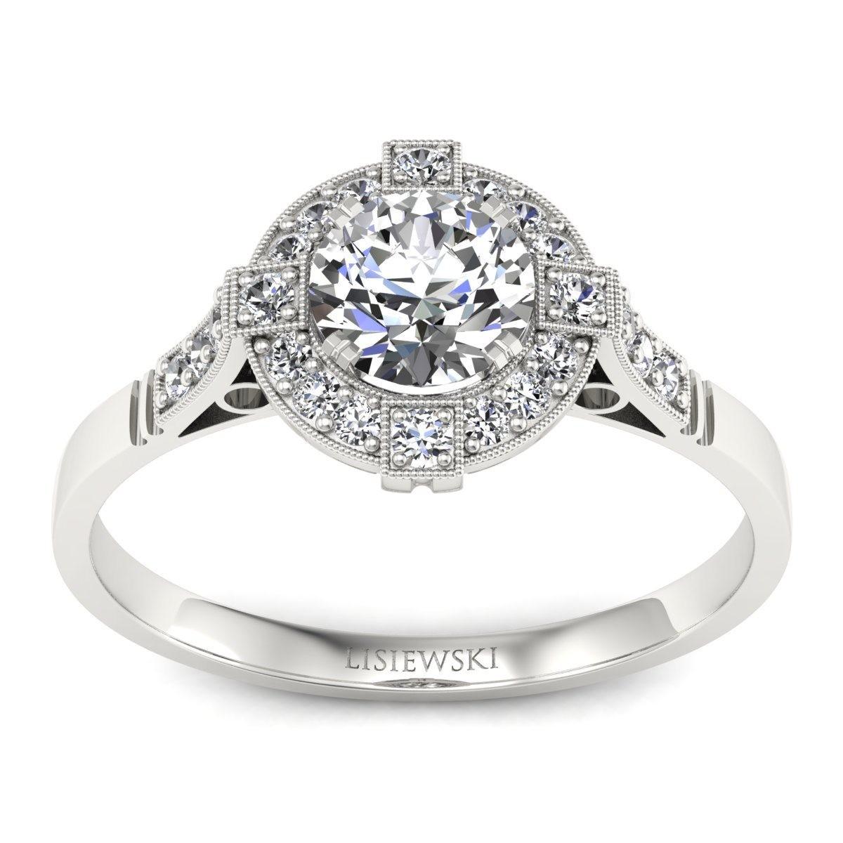 Audrey - Platynowy pierścionek z diamentami