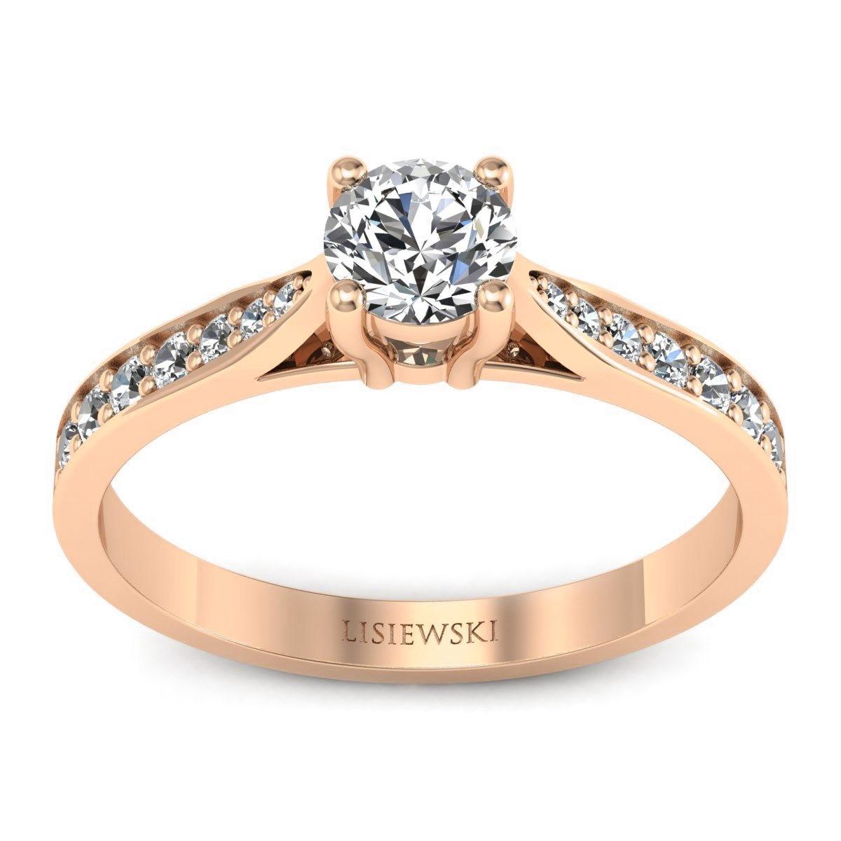 New York - Różowe złoto pierścionek z diamentami