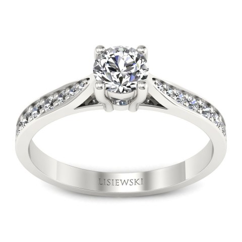New York - Platynowy pierścionek z diamentami