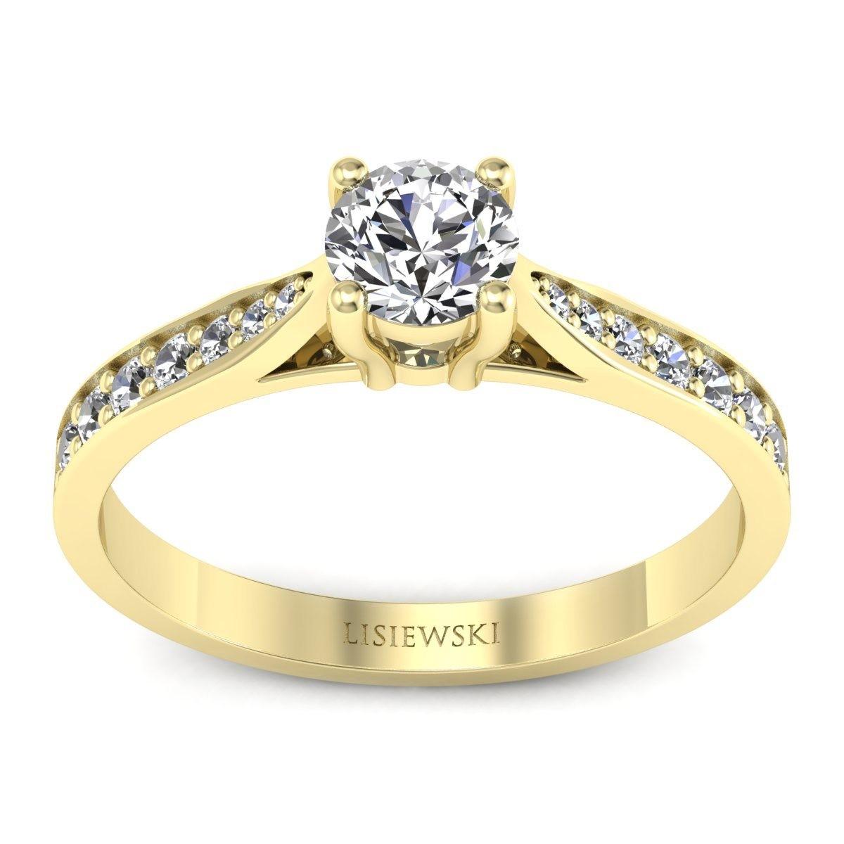 New York - Złoty pierścionek z diamentami