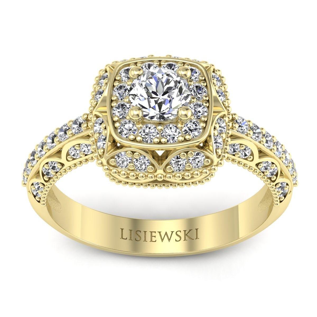 Elizabeth - Pierścionek złoty z diamentami