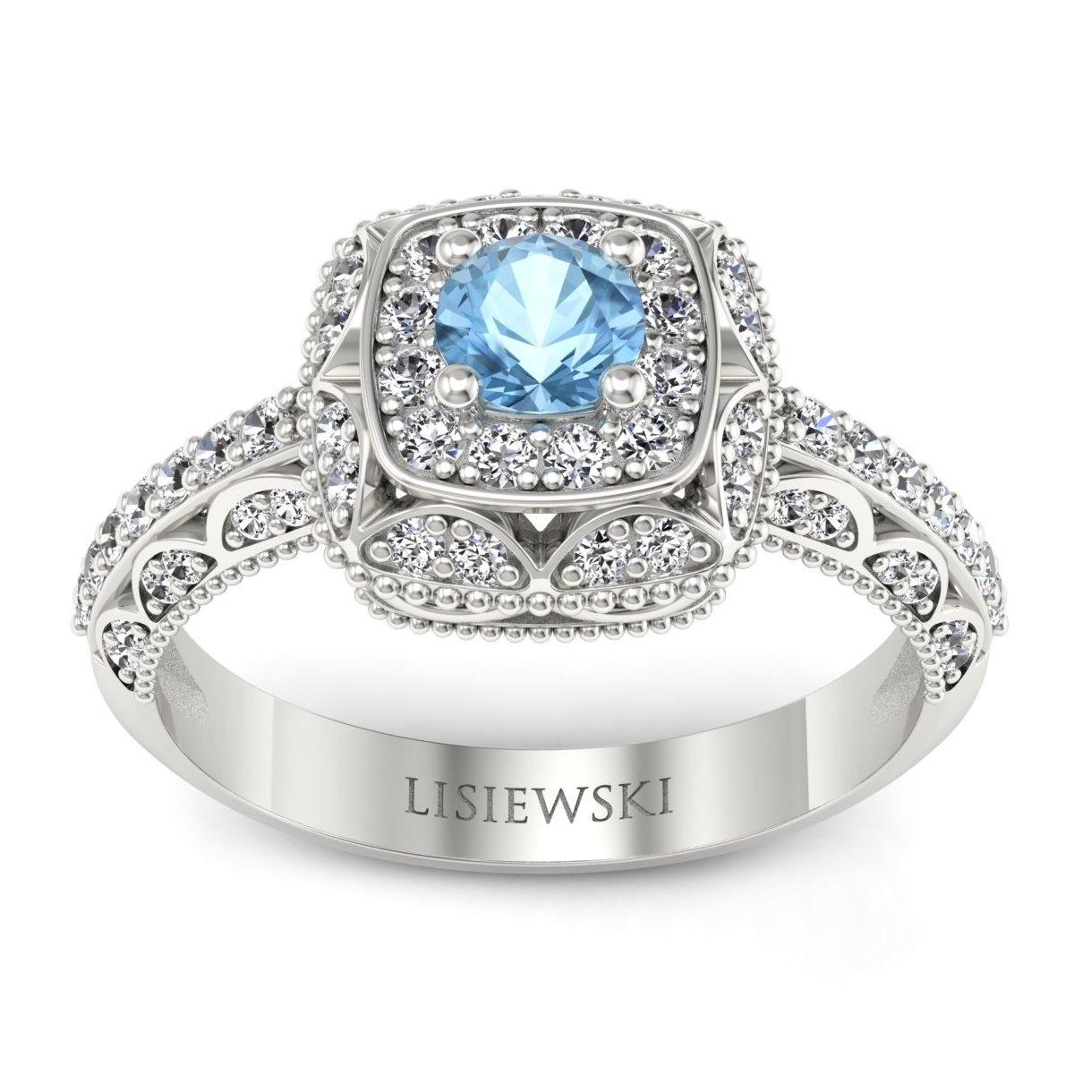 Elizabeth - Pierścionek z topazem i diamentami