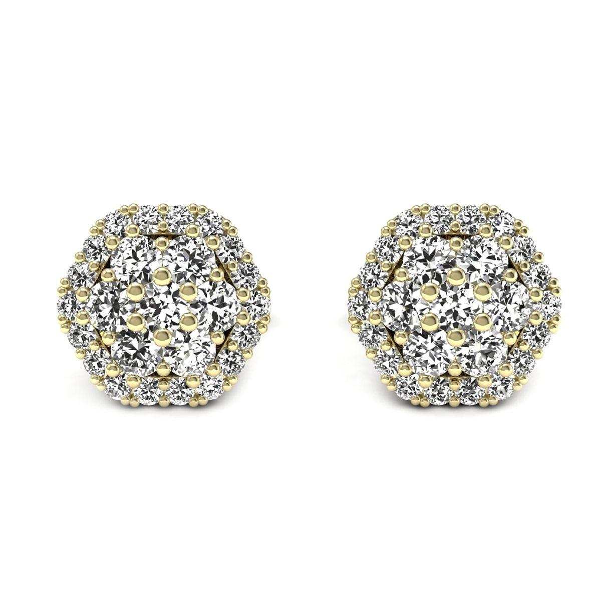 Casablanca - Złote kolczyki z diamentami