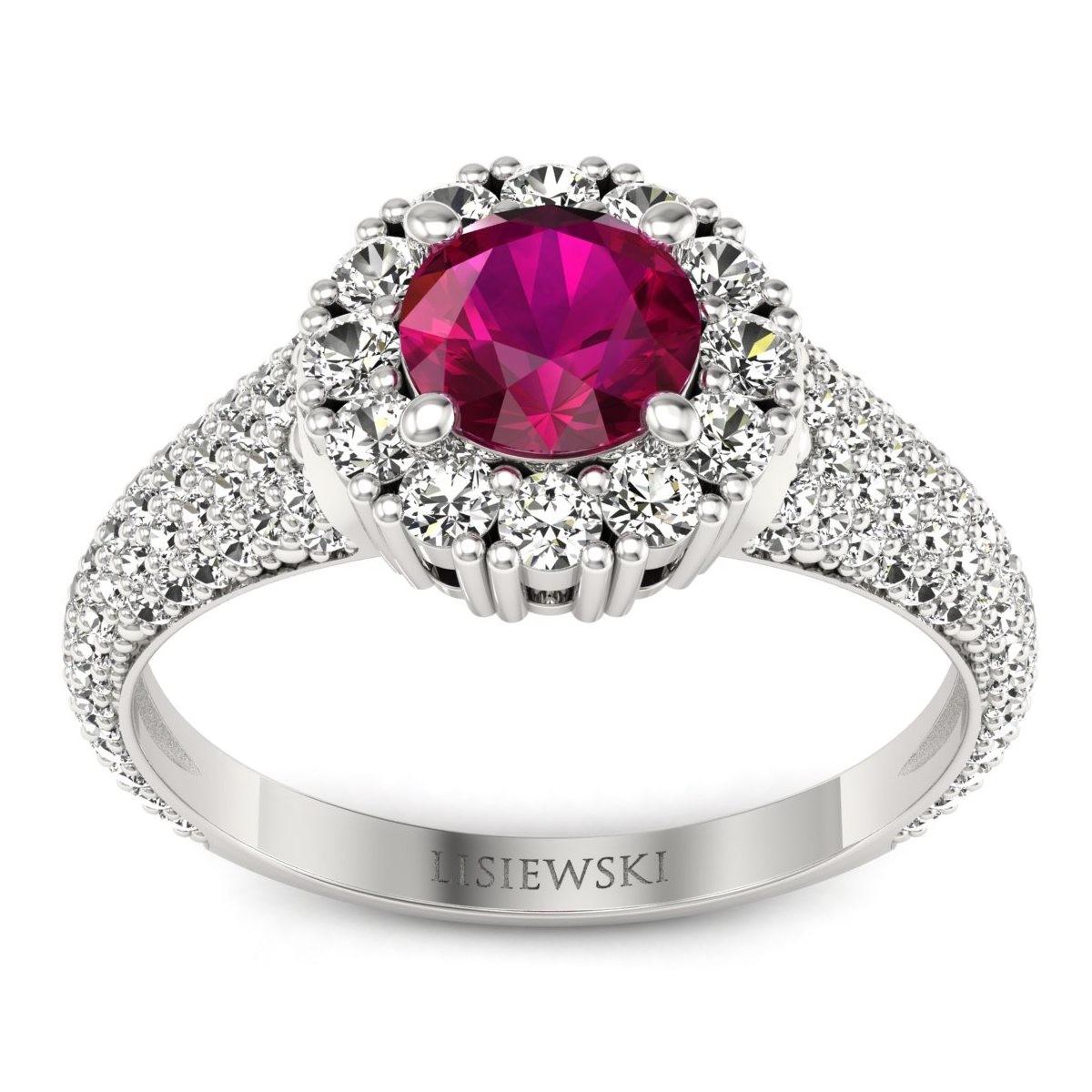 Kate - Pierścionek z rubinem i diamentami