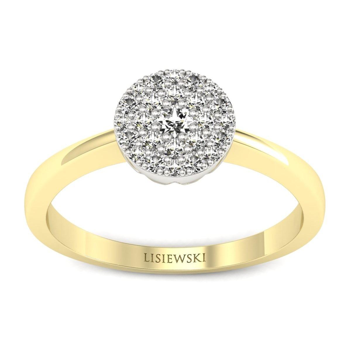 Roma - Złoty pierścionek z diamentami